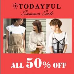 【TODAYFUL夏セール】大幅再ダウン!ALL50%OFF!セールアイテムは在庫限りです!