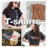 暖かくなってきたら欲しいのが今から使えるTシャツ!!カジュアル派からガーリー派まで絶対使える1枚♥