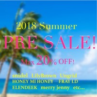 【速報】夏プレセール Max20%OFF! snidel. LilyBrown.FRAY ID. HONEY MI HONEYなど570商品以上♪