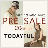 【20%OFF開催中】TODAYFUL 20'SPRING&SUMMER PRE SALE♪今すぐ着られるリネンアイテムやカフタンドレスがおすすめ◎