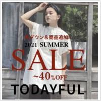 【 SUMMER SALE 】TODAYFUL 人気ドレスシャツや、夏に活躍するハットなど今すぐ欲しいアイテムが新たにセール対象に♪